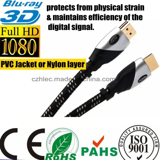1.5m Metal Casing HDMI to HDMI Cable pictures & photos