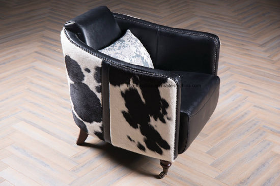 Modern Furniture Designer Vintage Pony Cowhide Living Room Sofa Chair pictures & photos