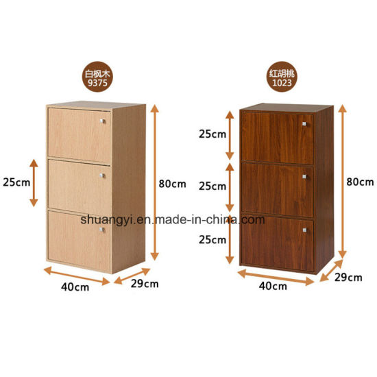 with 3 Doors Many Colors Choosen Particle Board or MDF Storage Cabinet pictures & photos