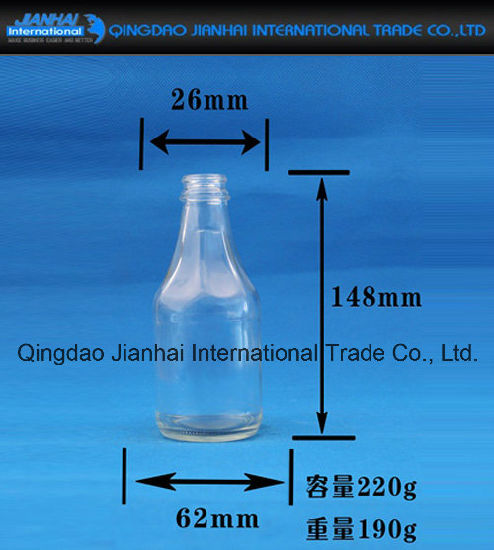 Transparent Glass Bottle Glassware for Sesame Oil pictures & photos