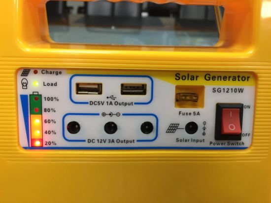 Portable Solar Power Supply Home Systems 12VDC 5VDC USB Output pictures & photos