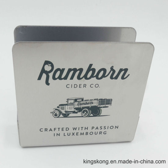 Square Stainless Steel Coaster Holder with Custome Logo pictures & photos