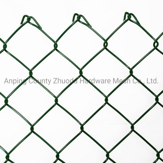 Amazon Ebay's Choice Green PVC Coated Galvanized Mesh 50mm Chain Link Wire Fencing (CLWF)