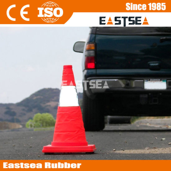 Red ABS Plastic Folding Traffic Safety Cone (RTC-45) pictures & photos