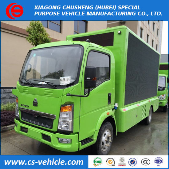 Sinotruk HOWO 4X2 LED Screen P8 P10 Small LED Advertising Truck for Sale