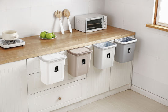 China Home Hanging Pressing Trash Can For Kitchen Cabinet Door China Dustbin And Plastic Dustbin Price