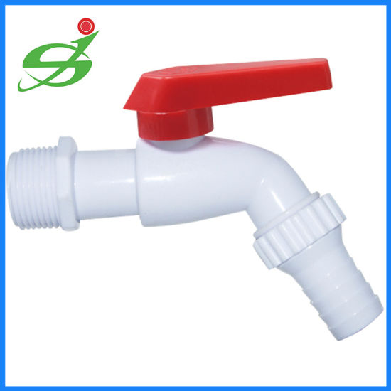 China Plastic Bibcock With Mouth PP Bathroom Faucet China - Plastic bathroom faucet