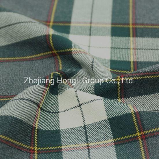 80% Polyester 18% Rayon 2% Spandex Check Stripe #111 Tr Fabric