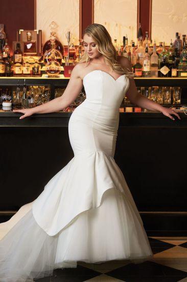 China Amelie Rocky 2018 Mermaid Satin Strapless Wedding Dress ...