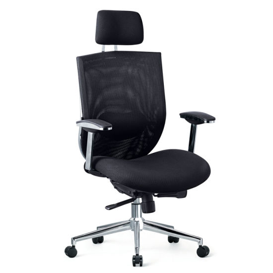 china fabric mesh type office chair with metal chrome finished frame