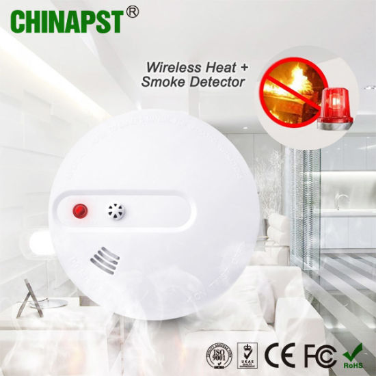 9V Battery Wireless Heat Detector/ Smoke Detector (PST-WHS101)