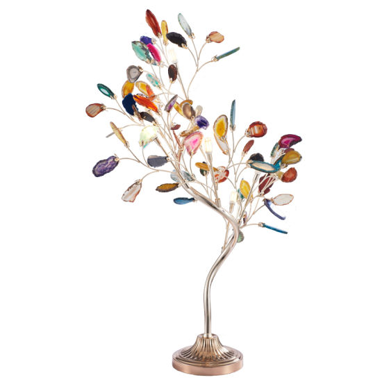 S - Shaped Agate Branch Desk Lamp Modern Simple and Colorful Bedside Lamp