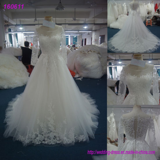 China Real Sample Wedding Dress Manufacture Bridal Gown 160611 ...