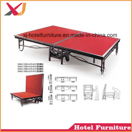 Folding Portable Stage for Party/Show/Wedding/Outdoor/Garden/Celebration pictures & photos