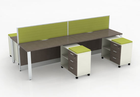 Modular Office Workstations For 4 Person