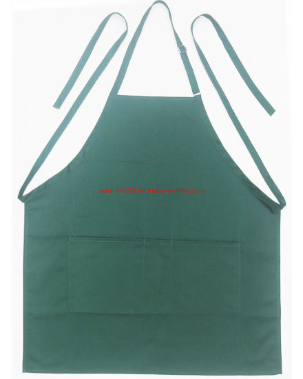Customized Cooking Coffer Industrial Polyester Cotton Bib Apron