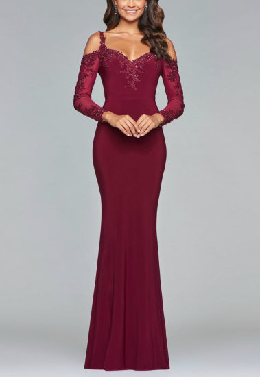 Long Sleeves Mother of The Bride Dress Wine Lace Party Evening Dress B20183 pictures & photos
