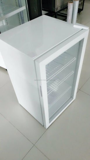 Table Cheaper 100 Liter Glass Door Mini Bar Fridge with CB Certification pictures & photos