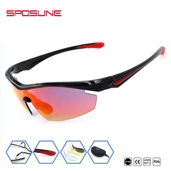 9c1e98ec6ae Fashion Mirror Lens Safety Sports Goggles Polarized UV Protective Glasses