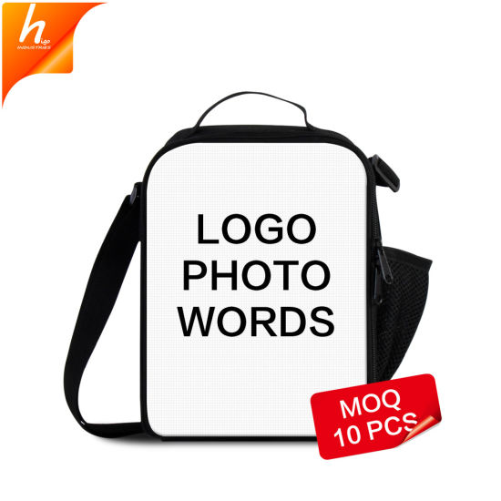 c886c30e1aae 2018 Personalized Dog 3D Printing Kids Insulated Lunch Messenger Bag