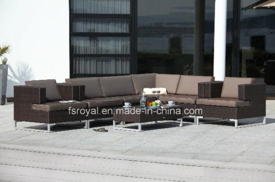 Chinese Modern Outdoor Garden Patio Hotel Sets Rattan Sofa Furniture