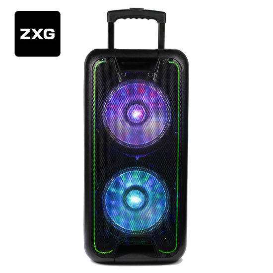 Portable DJ Active Amplifier Trolly USB Rechargeable Battery Wireless Hi Fi Karaoke Speaker Cabinet Guitar Home Theatre Speakers Line Array System Audio Mixer