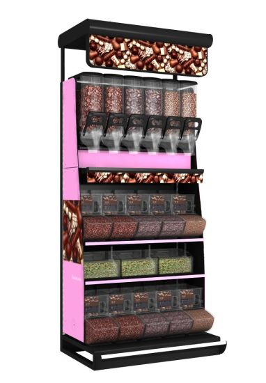 Metal Durable Supermarket Shelving Bulk Foods Display Shelf pictures & photos