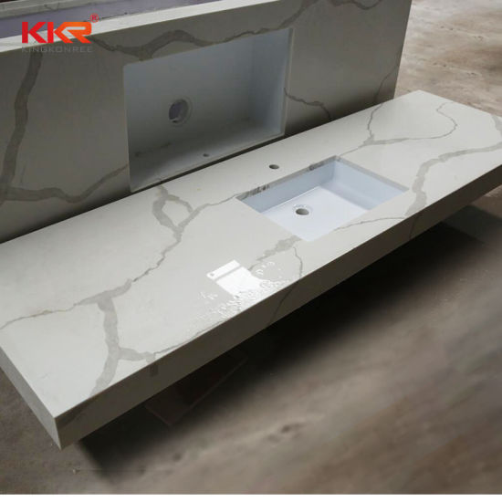 Wholesale Lowes Solid Surface Bathroom Vanity Top with Sink Counter Top