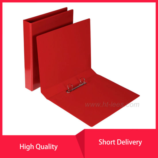 Insert PVC View Binder A4 2 D Ring 25mm Red pictures & photos