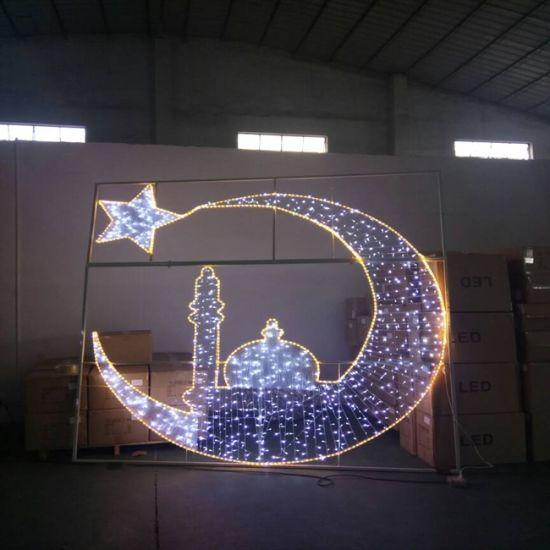 Wholesales LED Ramadan Motif Light for Shopping Mall Eid Decoration Lights