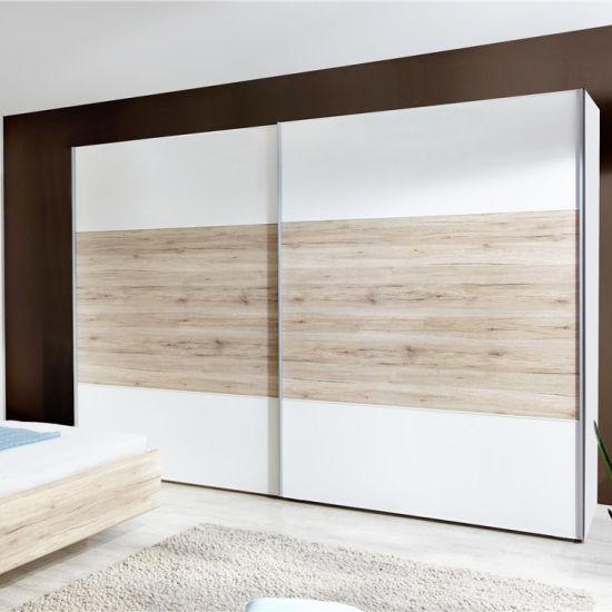 China Manufacturer Wholesale Cheap Modern Custom Wooden Cloth Wardrobes  Cabinet Sliding Door Bedroom Furniture Sliding Wardrobe