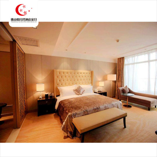 China Furniture Twin Bed Room Panel Hotel Living Room Furniture Set