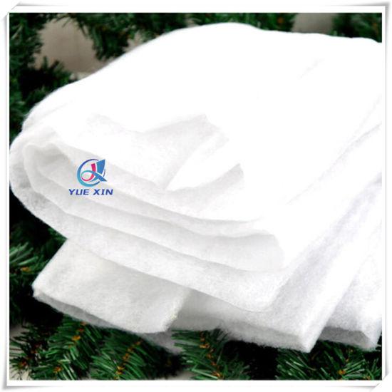 En71 Flame Retardant China Manufacturer Christmas Decoration Polyester Snow Blanket - China Artificial Snow Blanket, Christmas Blanket