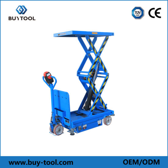 Best Selling Self-Propelled Electric Lift Table for Material Handling