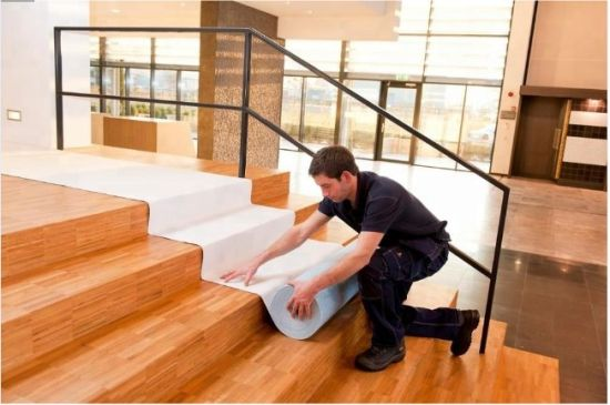 White Adhesive Furniture Felts for Floor Protection