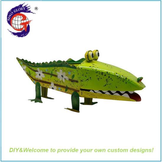 Novelty Cute Creative Office Home Desktop Crocodile Shaped Flower Pot Toy