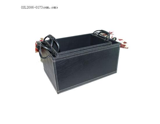 Office Supplies Desk Organizer PU Storage Box with Handle
