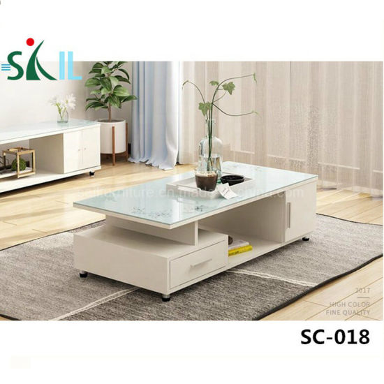 China K D Structure Tempered Glass Coffee Table Design China
