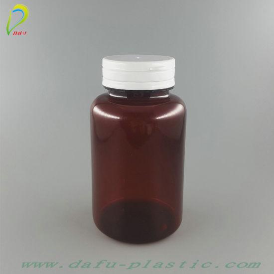 175ml Pet Plastic Medical Pill Capsule Container Wtih Tearing Cap