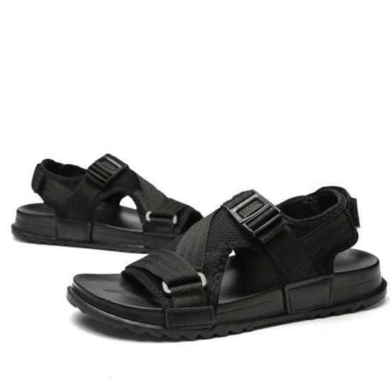 e13b9bd9a0 Ergonomic Design Comfortable and Breathable Insole Anti-Slip MD Flat  Outsole Men Shoes Beach Sandals Summer Men Sandals