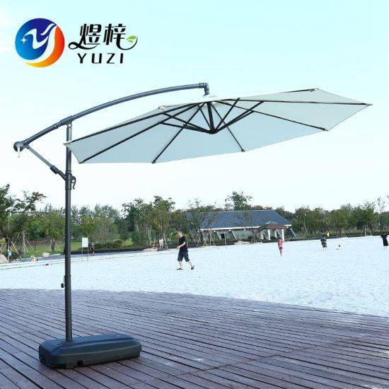 Outdoor Luxury Leisure Patio Garden Cantilever Offset Banana Umbrella
