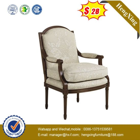 Modern Home Hotel Restaurant White Color Fabric Leisure Sofa Dining Chair pictures & photos