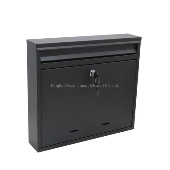 Galvanised Steel Outdoor Garden Letter Box Post Mailbox