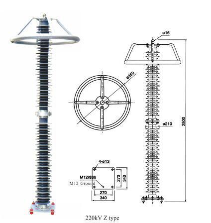 220kv X Compound Shell Metal Oxide Arrester
