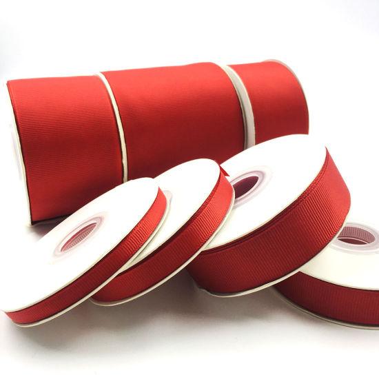 Factory Wholesale Custom Printed Grosgrain Ribbon 100% Polyester Grosgrain Ribbon for Packaging
