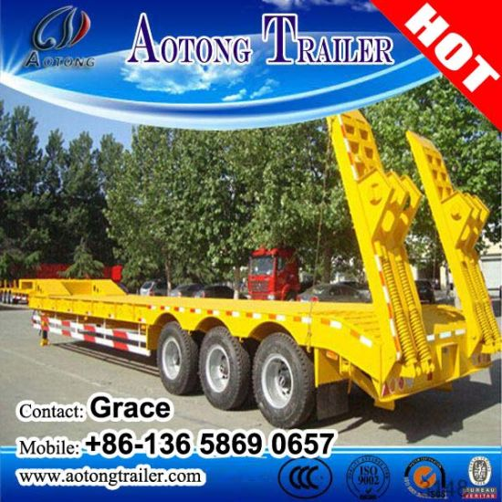China Factory Direct Sale 30ton, 50 Ton, 60ton, 80ton, 100ton Low Loader Lowboy Low Bed Semi Truck Trailer pictures & photos