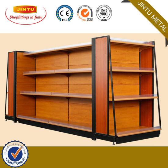 Factory Price Steel Structure Supermarket Equipment Shop Shelves, Gondola Shelf