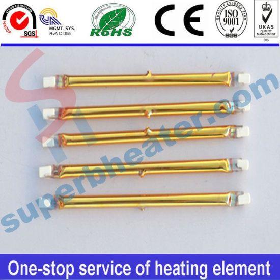 China Halogen Drying Infrared Quartz Tube Heater China