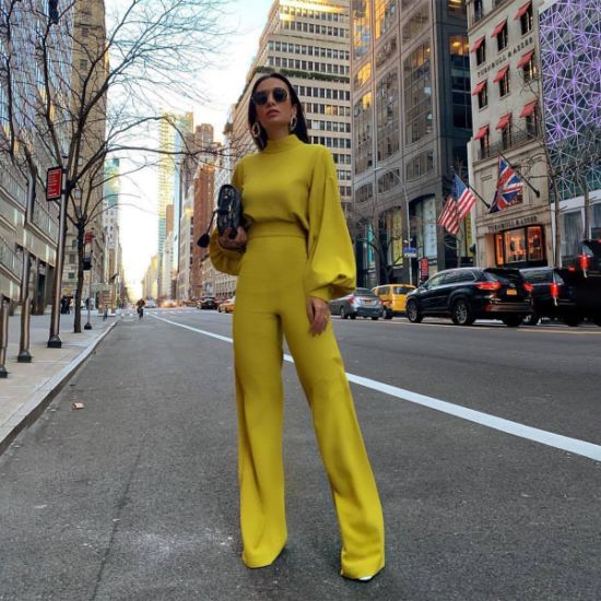 Women Sexy Long Sleeve Wide Leg Jumpsuit Casual Dressy Jumpsuits for Women