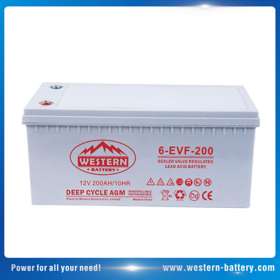 6-Evf-200 Super Electric Vehicle and UPS Solar Power system Battery 200ah
